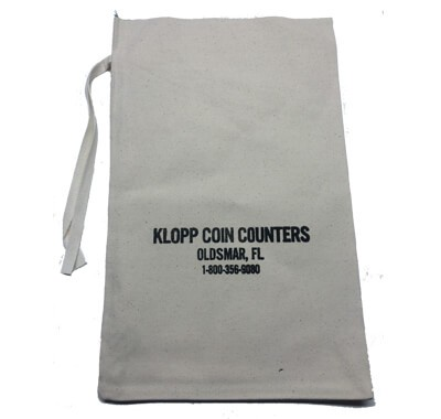 Cloth Coin Bags Will hold up to $1,000 in Quarters