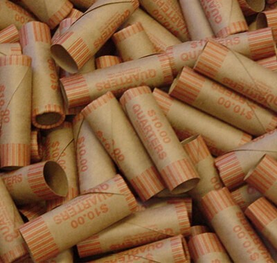 Crimped End, Preformed, Tamper-Proof Shotgun Shell Coin Wrappers